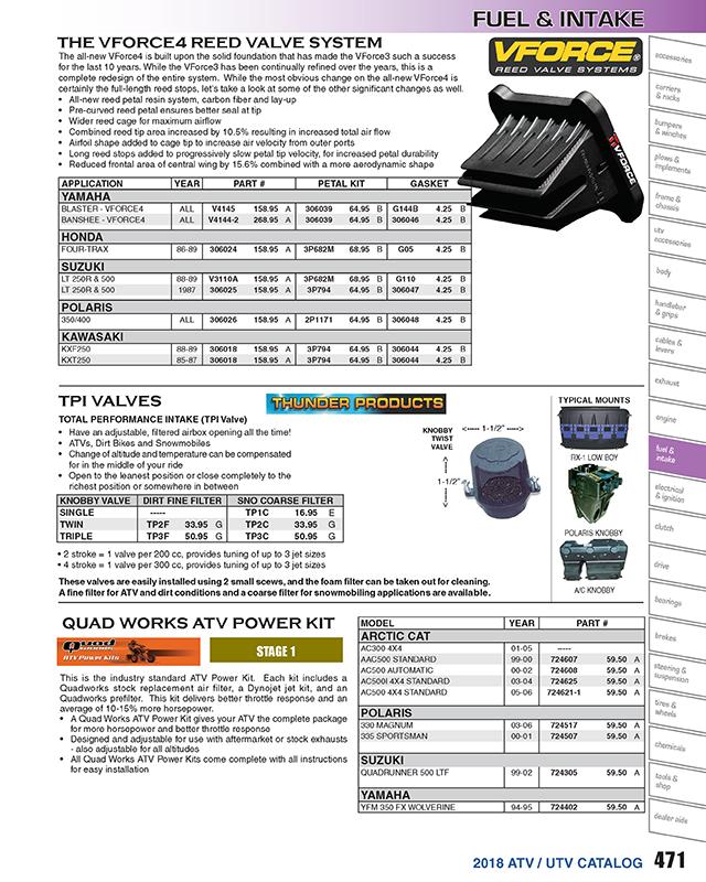 V-Force 3 Reed Valve System For 1987 Suzuki LT250R QuadRacer~Moto Tassinari