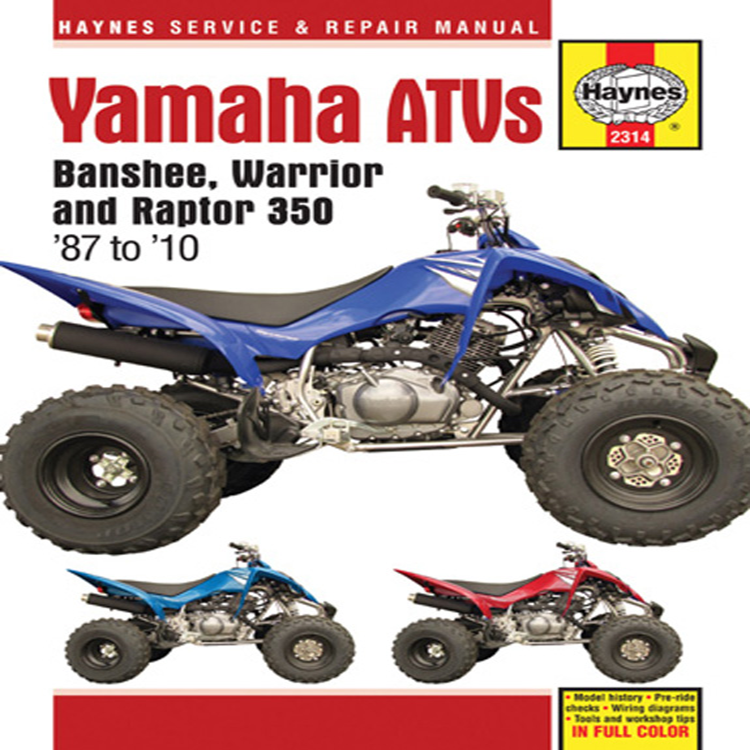 2000 yamaha warrior 350 wiring diagram atv manual yamaha for 2000 yamaha yfm350x warrior atv haynes m2314  2000 yamaha yfm350x warrior atv haynes